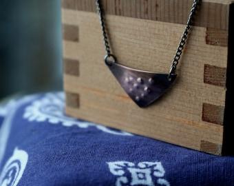 Geometric Copper Necklace - Rustic Copper Triangle Necklace