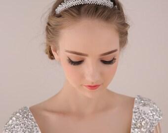 Bridal Tiara, Wedding Tiara, Bridal Wreath, Crystal Wedding Headband