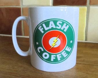 DC Comics Flash Starbucks Inspired Coffee Mug 10oz