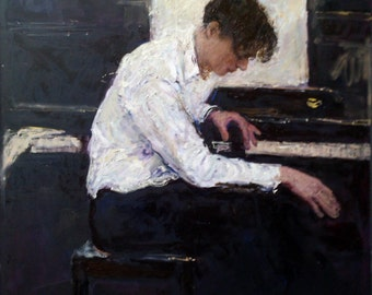 Pianist, 51.2x39.4 inches