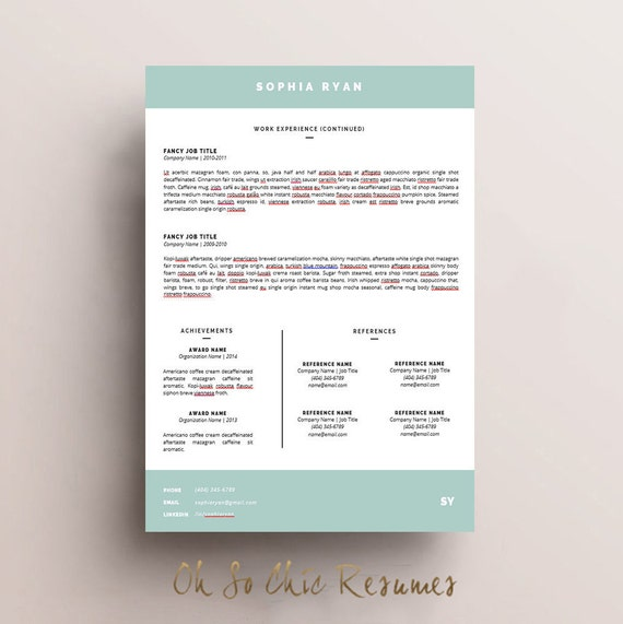 resume template cv template cover letter instant