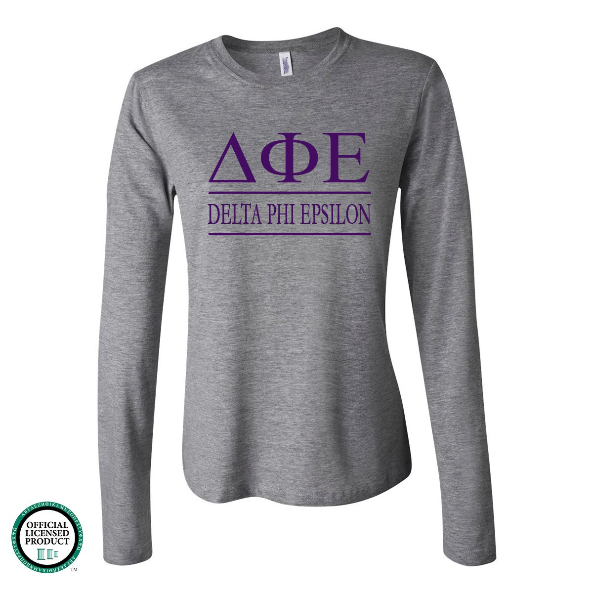 Delta Phi Epsilon Fitted Long Sleeve Tshirt Dfe Tshirt Dfe