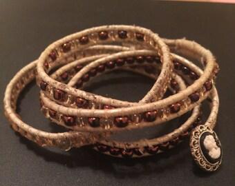 Leather Wrap Around Bracelets