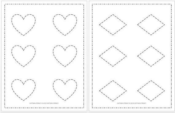 Prewriting Worksheets For Preschoolers / Polygons / Shape