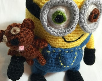 Crochet Minion Bob and Tim!