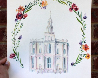St. George LDS Temple Print