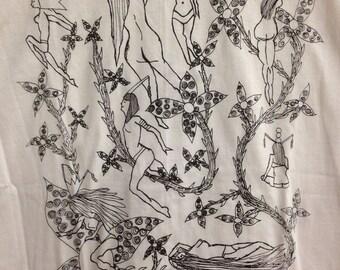 Fetish Pin Up Tee Shirt- Nudes Tee Shirt- Art Deco Tee Shirt- Art Nouveau Tee Shirt- Sexy Girls Tee Shirt- Gift- Size Medium