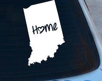 Indiana Decal - State Decal - Home Decal - IN Sticker - Love - Laptop - Macbook - Car Decal