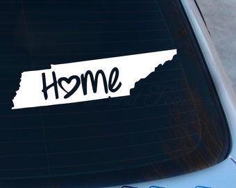 Tennessee Decal - State Decal - Home Decal - TN Sticker - Love - Laptop - Macbook - Car Decal