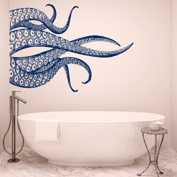 Bathroom Sea Wall Decor : Octopus tentacles wall decals for bathroom sea animals