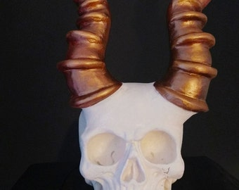 xl copper goatman skull