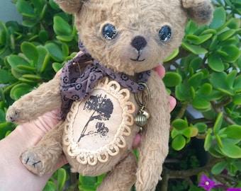 """Teddy bear """"Olly"""", collectible handmade art toy, OOAK"""