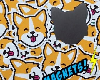 """Corgi Smiling Face - 3"""" Magnet!"""