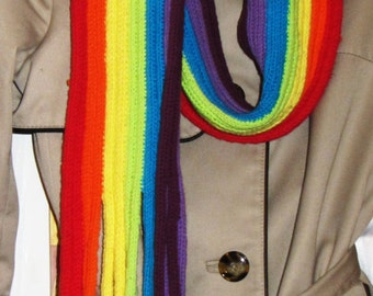 LGBT pride rainbow scarf