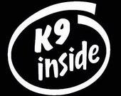 Window decal-K9 inside