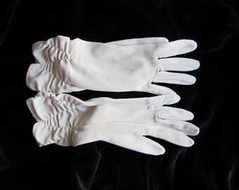 1960's Gloves • Ruching Detail • Formal Evening • Unique