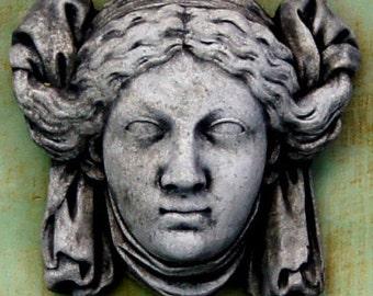 Garden Maiden Concrete Wall Plaque Cement European Garden Statue Hanging Palque Art Cast Stone French Statuary