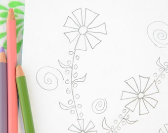 Printable Coloring Pages For Kids And Adults - Instant Download