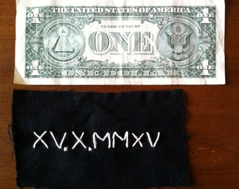 Roman Numeral Date Patch