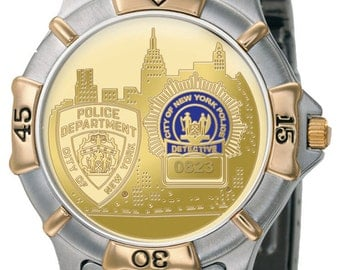 Mens NYPD Detective Watch - Cityscape