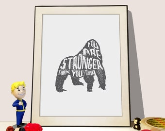 Animal print - You are stronger than you think Gorilla