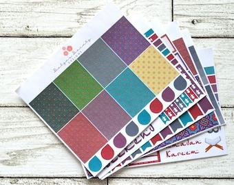 Ramadan Weekly Kit || Arabian Night Weekly Kit || Planner Stickers || Vertical