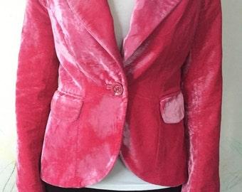 Karen Millen vintage pink velvet jacket