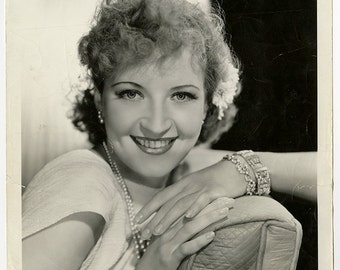 Vintage 1930s Art Deco Original Golden Age of Hollywood Glamour Photograph of Jean Fenwick AKA Jean Morgan