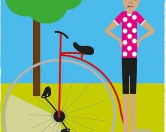 Poster Bike Rider, 50x70cm
