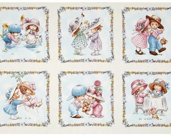 Sunbonnet Emma & Friends -Panel - Elizabeths' Studio - Adorable Kids SunBonnet