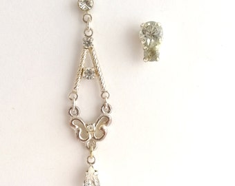 Upcycled odd pair earrings