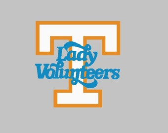 Lady Vols  -  University of Tennessee Logo Machine Embroidery Design