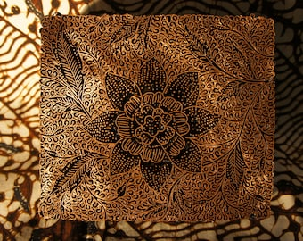 BATIK TJAP Indonesian copper stamp