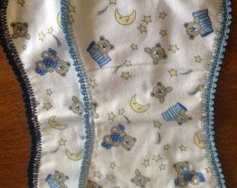 Baby Burp Cloths, Flannel Burp Cloths, Boy's Burp Cloths