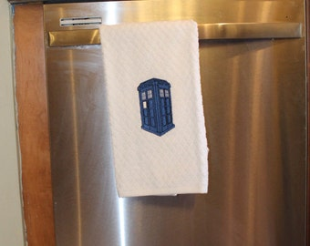 Police Box / TARDIS / Doctor Who Hand Towel