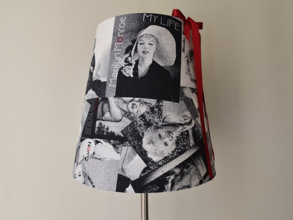 Marilyn Monroe Printed Black And White Fabric By