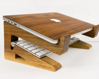 walnut wood laptop riser