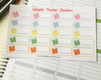 Weight Tracker Planner Stickers