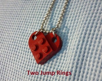 Hearts made from LEGO® bricks - Great for Valentines Day!