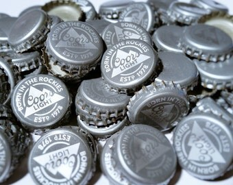 100 Coors Light Recycled Beer Bottle Caps