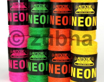 Nutscene Fabulous Neon Twine 110m - 4 Stunning Colours - Coloured Jute String