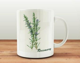 Vintage Rosemary Print Mug
