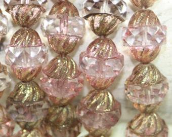 Czech Glass Beads, Turbine Beads 11x10mm 15 Pcs