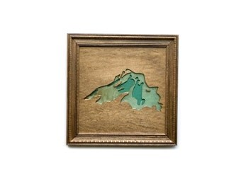 Ready to ship / Lake superior Art with Epoxy resin and wood bathymetry topograhy / Great Lakes