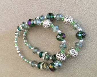 Crystal Green and glitzy!