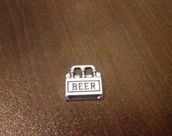 5pcs - Antique Silver Beer Charm - 12mm x 12mm - Jewelry Supplies - Findings - Bulk Charms