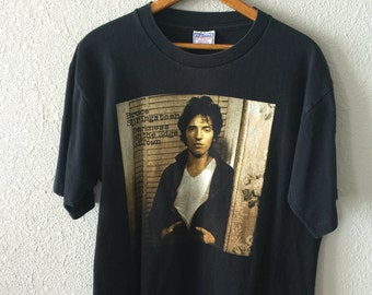 "1980's Bruce Springsteen ""Darkness On the Edge of Town"" T Shirt"