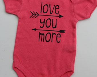 Love you more with arrows bodysuit!