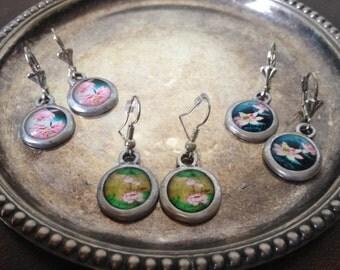 Earrings with bead pendant Happinez style