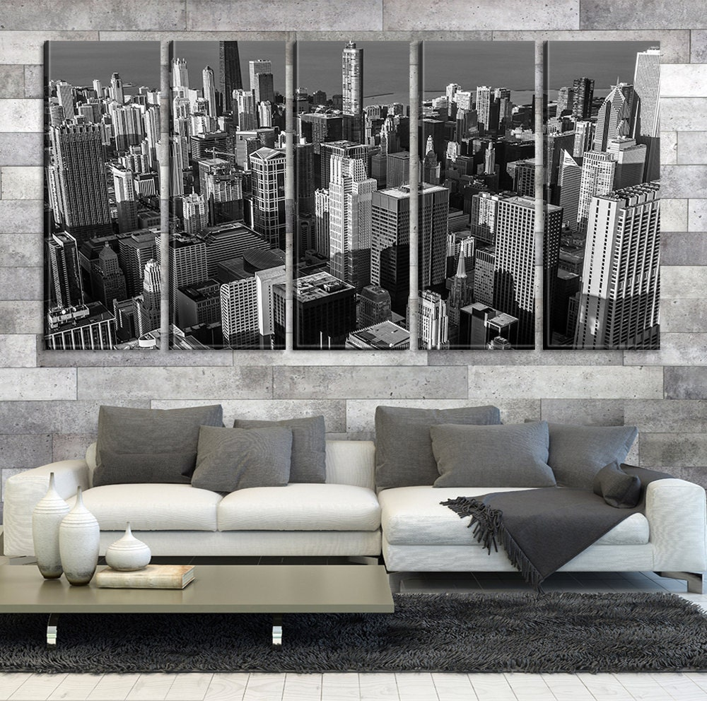 chicago skyscrapers canvas home decor chicago city canvas